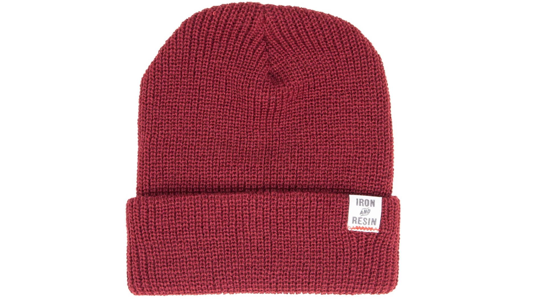 Iron & Resin Watchman Beanie in Oxblood