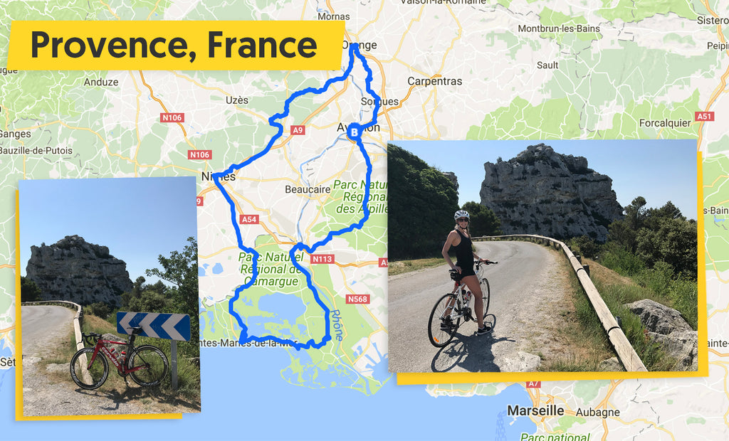 Languedoc and Provence cycle route map