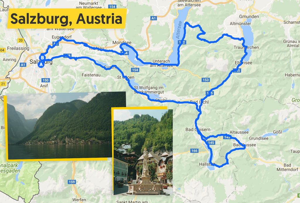 ultimate trip austrian lakes cycling route map