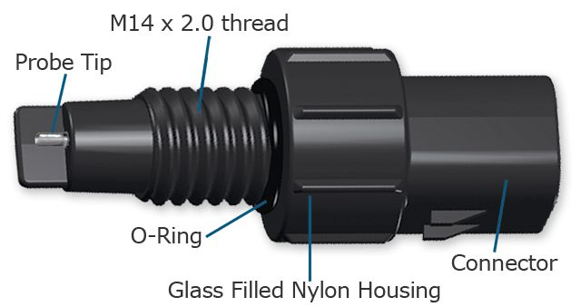WW002842AA Glass Filled Nylon WIF Sensor (passive, M14 x 2.0 thread)