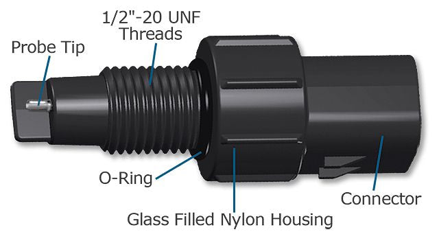 WW002841AA Glass Filled Nylon WIF Sensor (passive, 1/2 x 20 thread)