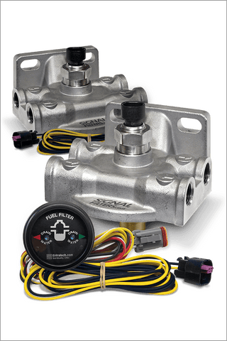 Signal Filters™ SMART Filter System AS-SS-G2 DUAL KIT (w/Dual Indicator Gauge and Harness)