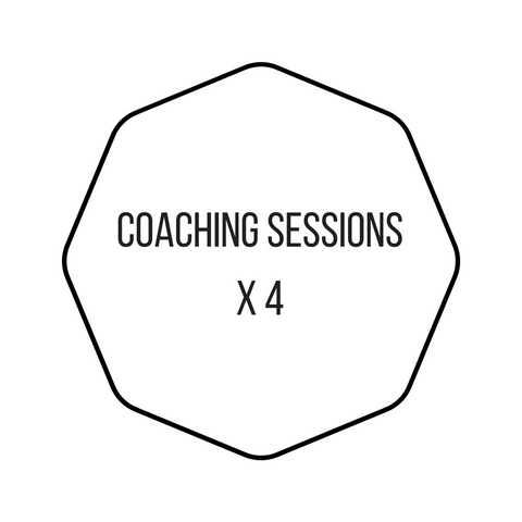 4 x face-to-face 45 minutes Coaching Sessions (via Skype video/phone)