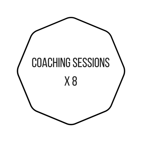 8 x face-to-face 1 hour Coaching Sessions