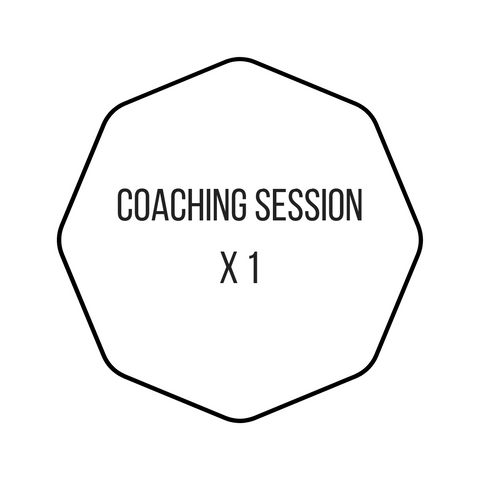 1 x Coaching Session 45 minutes (via video/phone)