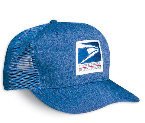 The mesh style postal approved usps baseball hat allows your head the air to keep cool.