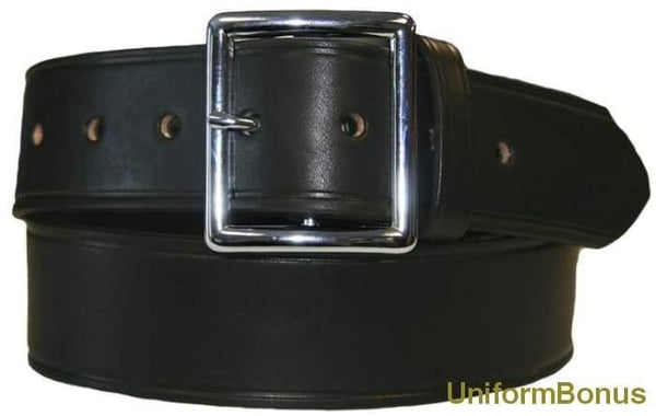 "1 3/4"" Black Leather Premium Postal Belt Boston Leather"