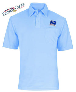 Flying Cross Men's Letter Carrier Knit Postal Polo Shirts