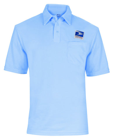 Postal polo golf shirt for male letter carriers