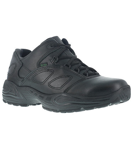 Women's Reebok Black Athletic Leather Oxford Soft Toe Shoe USPS Certified - Postal Uniform Bonus