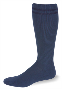 Postal Over The Calf Postal Blue with Navy Blue Stripes Socks - Postal Uniform Bonus