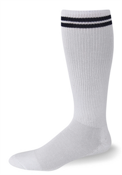 Postal Over The Calf White with Navy Blue Stripes Socks - Postal Uniform Bonus