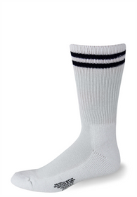 Cushioned White with Navy Blue Stripes Socks - Postal Uniform Bonus