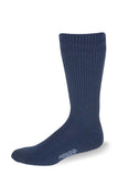 Cushioned Postal Blue with Navy Blue Stripes Crew Socks - Postal Uniform Bonus