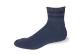 Cushioned Ankle Quarter Postal Blue with Navy Blue Stripes Socks - Postal Uniform Bonus