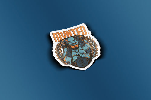 "Robot Fighter 3"" Die Cut Sticker-[size]-[color]-Sticker-Mynted"