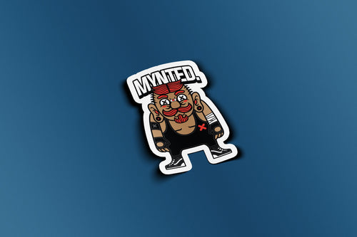"Wrestler 3"" Die Cut Sticker-[size]-[color]-Sticker-Mynted"