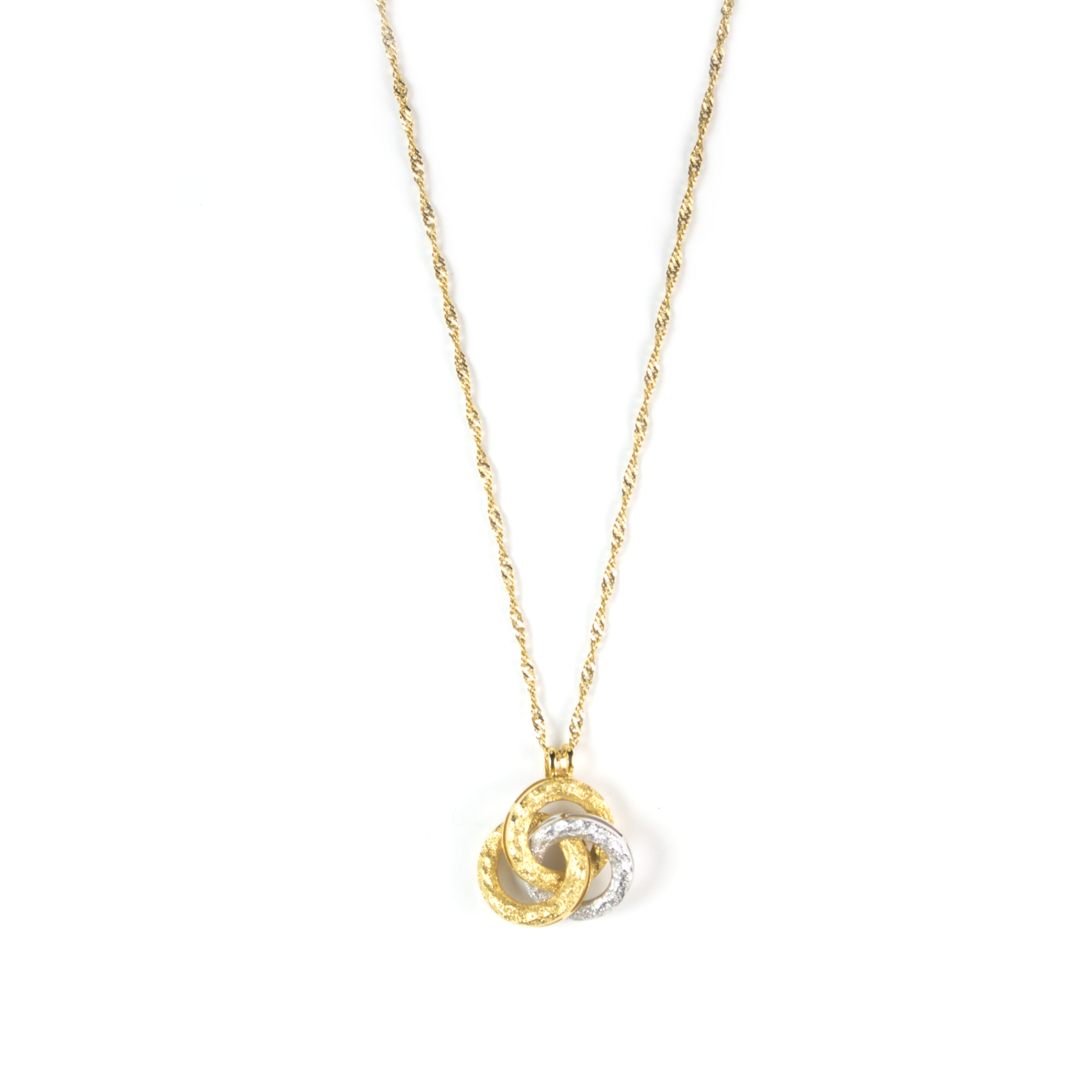 Gold Entangled Rings Necklace – Dubai Gold