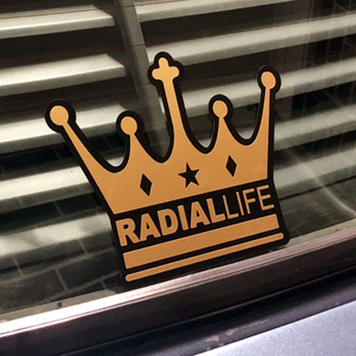 Sticker Crown Gold 20 x 15cm