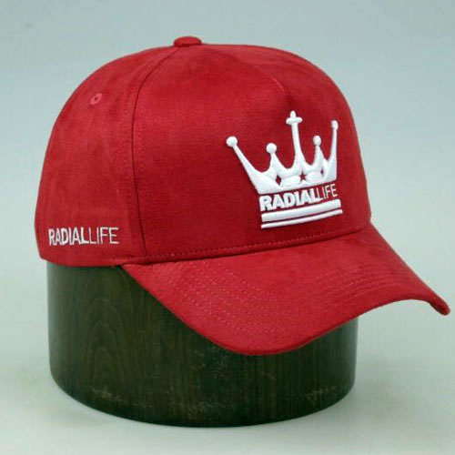 Crown Suede Strap Back Red