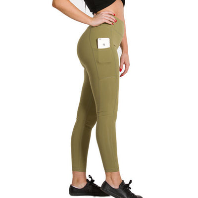 Signature Crown Active Wear Leggings - Khaki