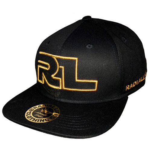 Hat FlatBrim SnapBack Black & Gold