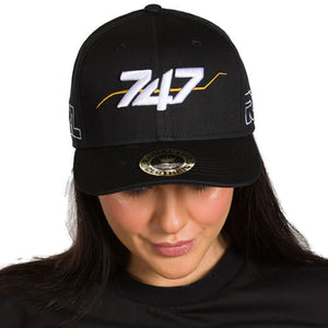 747 Hat Black Snap Back