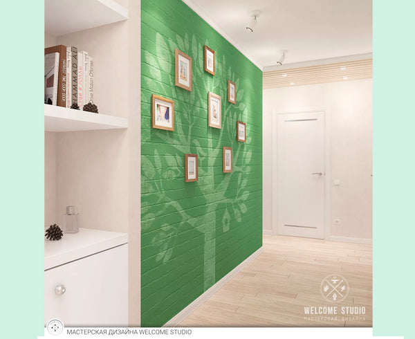 Ideas para decorar el recibidor, pintar pared en verde
