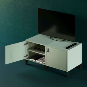 Mueble-de-Cubos-para-TV-EQUILIBRIO-verde-flexa-open