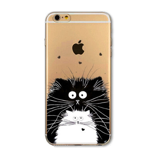Cute Animal Case for Apple iPhone 6 6S 6Plus 6s Plus 4 4S 5 5S SE