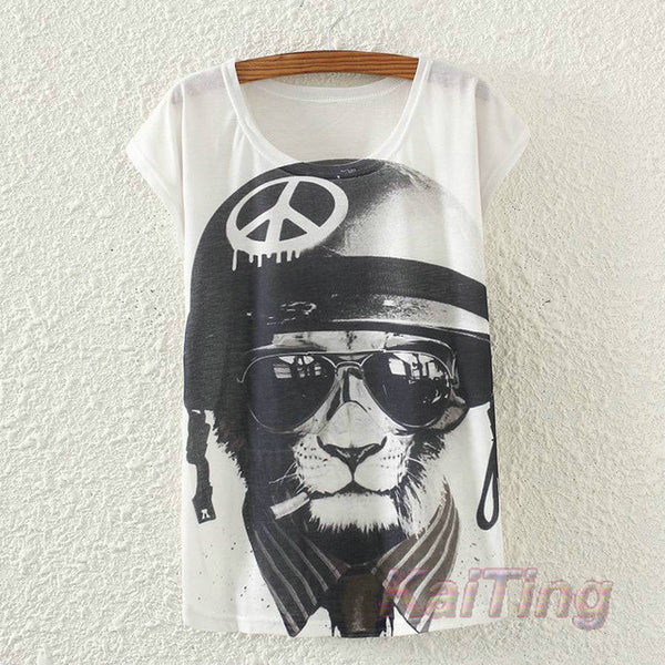 Vintage Summer Animal print T Shirt