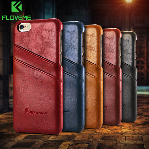 Luxury Leather Case For iPhone 5 6 6s 7 7 Plus