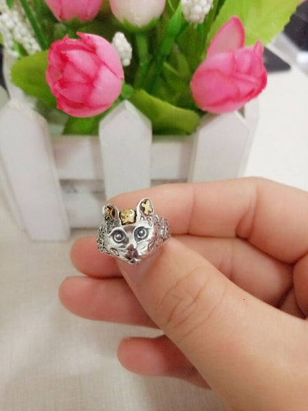 Queen Cat Sterling Silver Ring