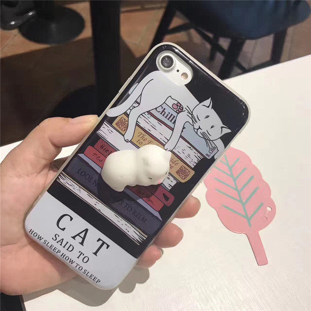 3D Cute Soft Kitty Phone Cover for iPhone 6s 6 6 Plus 7 7 Plus