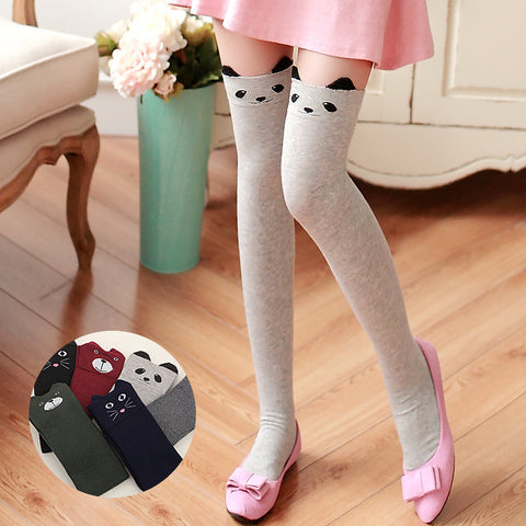 Cute Black Cat High Socks