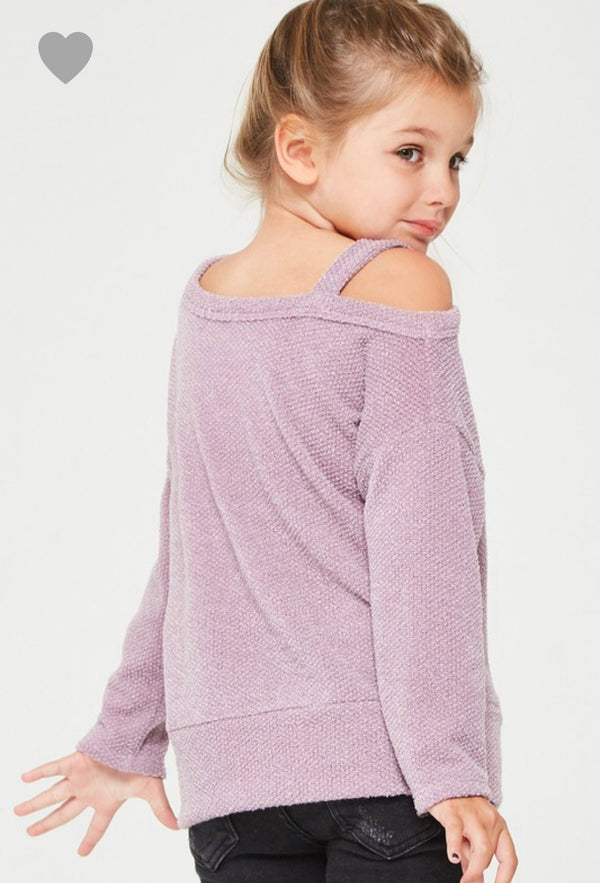 Kids Lavender Off the Shoulder