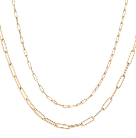 Classic Flat Oval Link Chain