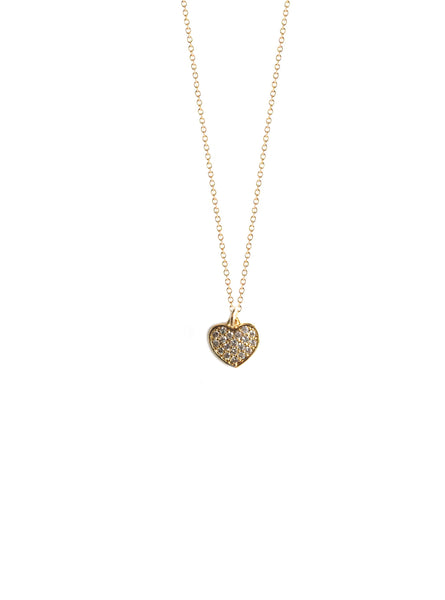 Mini CZ Heart Charm Necklace