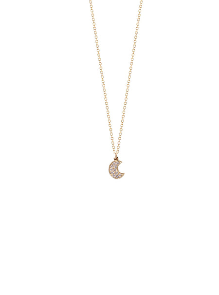 Mini CZ Eye Charm Necklace
