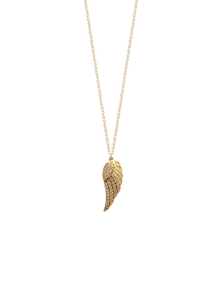 Mini CZ Wing Charm Necklace