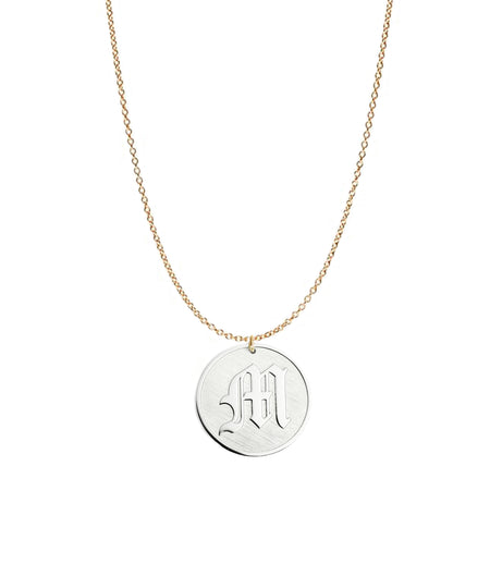 Old London Gothic Initial Necklace