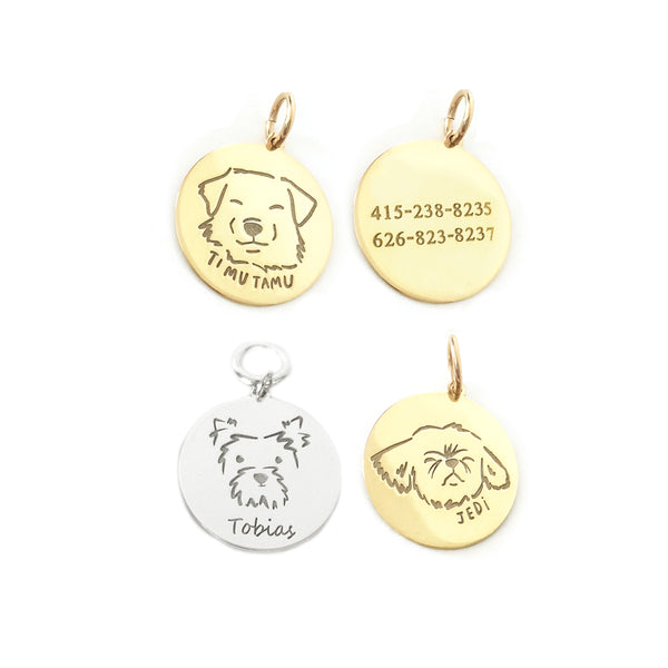 Personalized Pet Portrait Tag