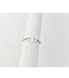 Dana Evil Eye Personalized Chain Ring