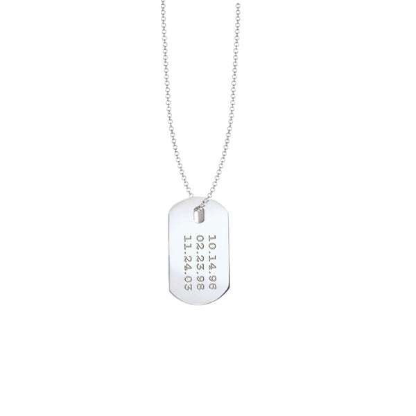 Dates Dog Tag Necklace