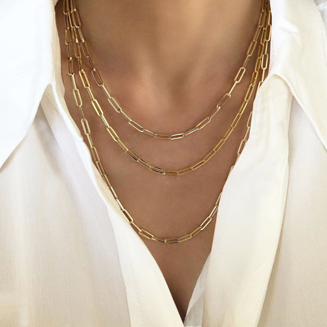 Elle Rectangular Link Chain
