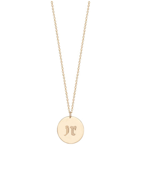 Monogram Block Necklace