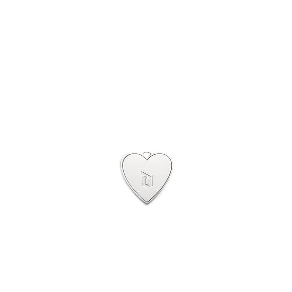 Gothic Lower Case Initial Hheart Charm