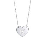 Venus Initial Heart Necklace