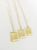 Calendar Paperclip Chain Necklace