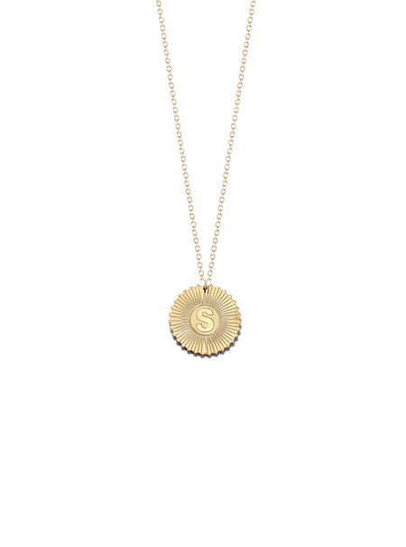Vesta Initial and Heart Medallion Necklace